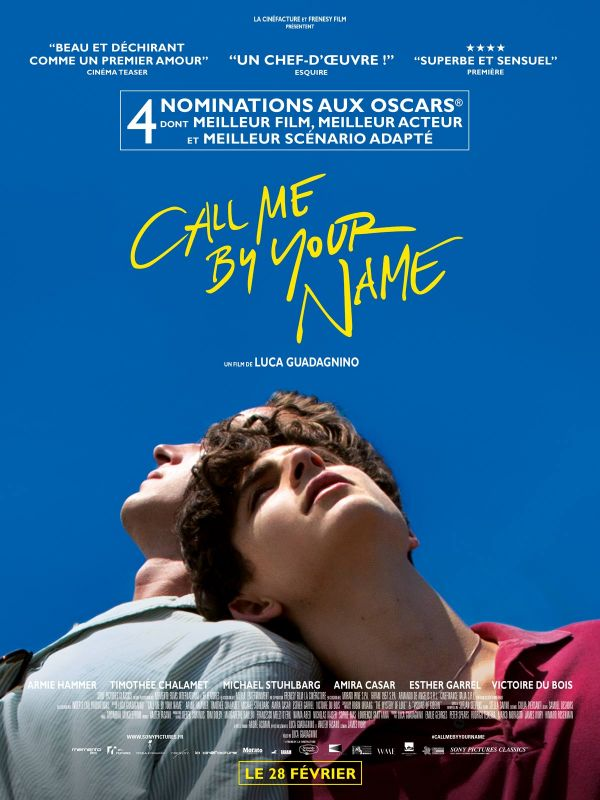 Jaquette du film Call Me By Your Name